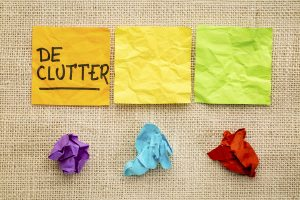 Decluttering a property
