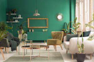 green-living-room-interior
